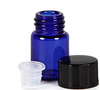 LanJing 1ml 1/4 Dram Blue Essential Oil Bottle with Orifice Reducer