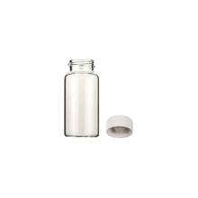 366228216 Clear 20ml Borosilicate Glass Heat-Resistant Scintillation Vial with Cone Shaped Liner 22-400 Urea Screw Cap Attached(Case of 500)