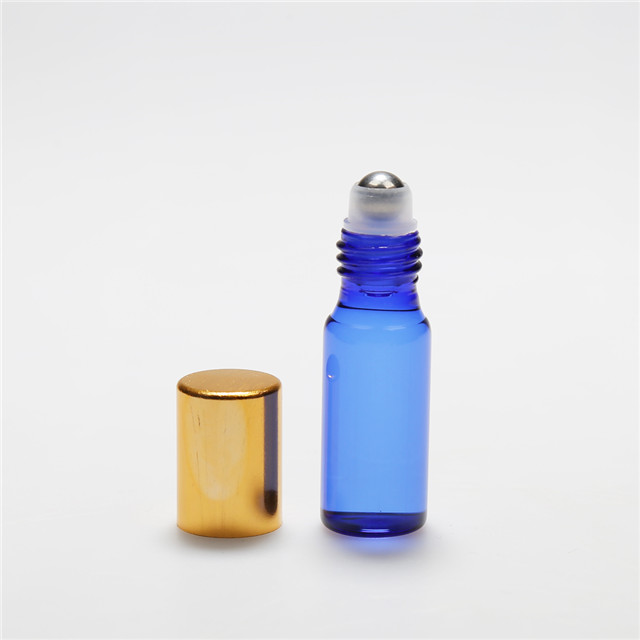 LanJing Essential Oil Perfume Roller Bottle Blue 1ml 2ml 3ml 5ml 10ml Glass Roll on Bottle with Cap