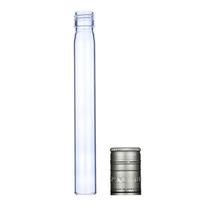LanJing 100ml Tube Glass Liquor Bottle With Aluminum Cap