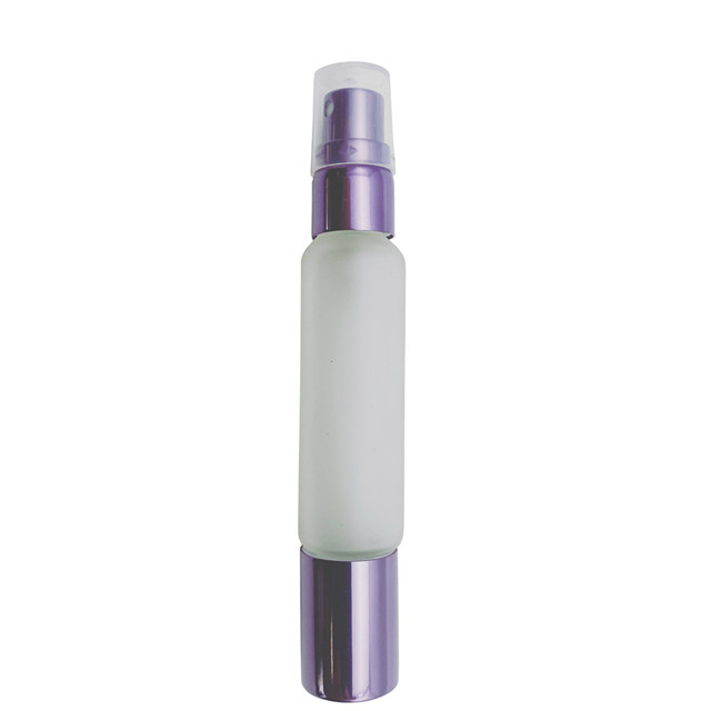 LanJing 10ml Frosted Clear Double end Glass Bottles for Essential Oils Perfume