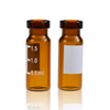LanJing 2ml 11mm Amber Crimp Chromatography Vial with PTFE Silicone Septa Autosampler Vials