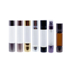 LanJing 8ml 10ml Amber Clear Double Finish Glass Bottle With Stainless Steel Ball