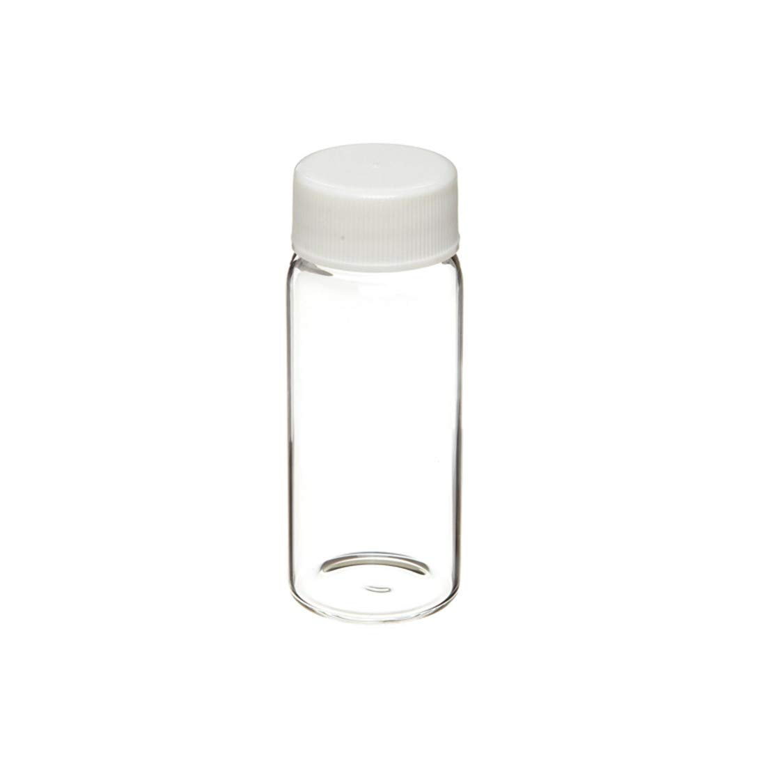 366228204 Borosilicate Glass 7mL Liquid Scintillation Vial with 22-400 White Polypropylene Pulp-Backed Foil Lined Screw Cap Packaged Separately