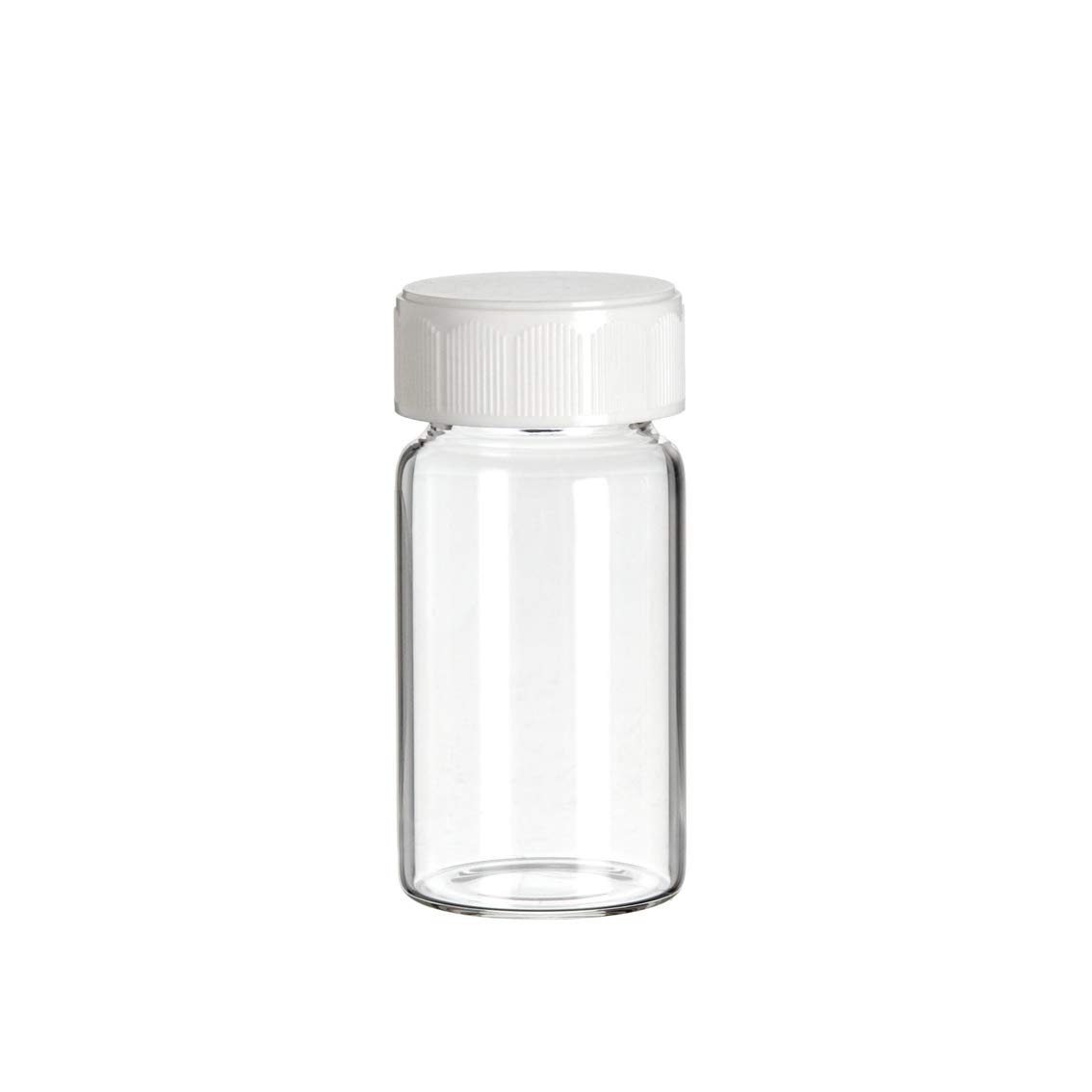 366228203 Borosilicate Glass 20mL Scintillation Vial with Urea Cap Cork-Backed Foil Liner 24-400 GPI Thread Finish (Case of 500)