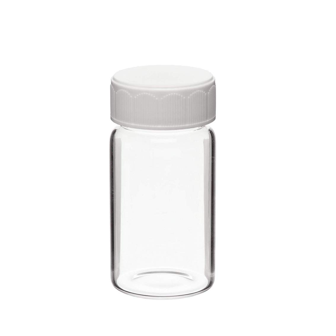366228203 Borosilicate Glass 7mL Scintillation Vial with Urea Cap Cork-Backed Foil Liner 24-400 GPI Thread Finish (Case of 500)