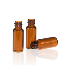 LanJing 8-425 screw thread 1.5ml amber glass sampling vials for Gas Chromatography