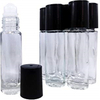 LanJing 10ml Clear Thick Bottom Roll on Bottle with Glass Ball Satinless Steel Ball
